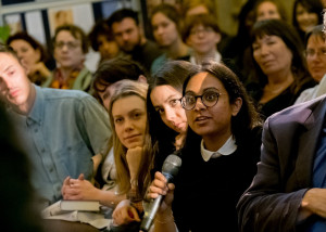 Audience at Arundhati Roy event