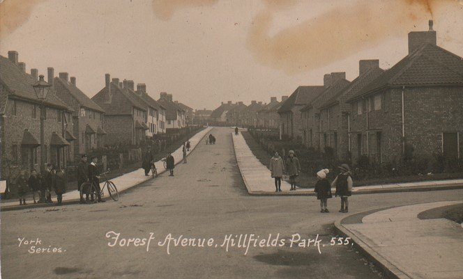 Hillfields Park Forest Avenue postcard