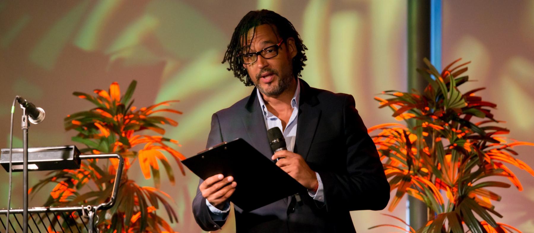 Image of historian, producer and broadcaster David Olusoga