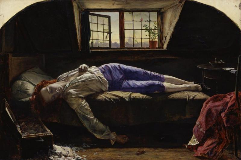 Henry Wallis' Chatterton 1856 Tate
