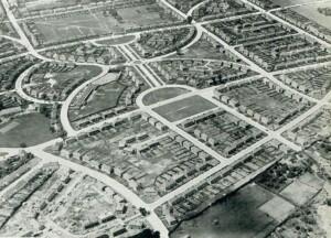 Hillfields aerial view