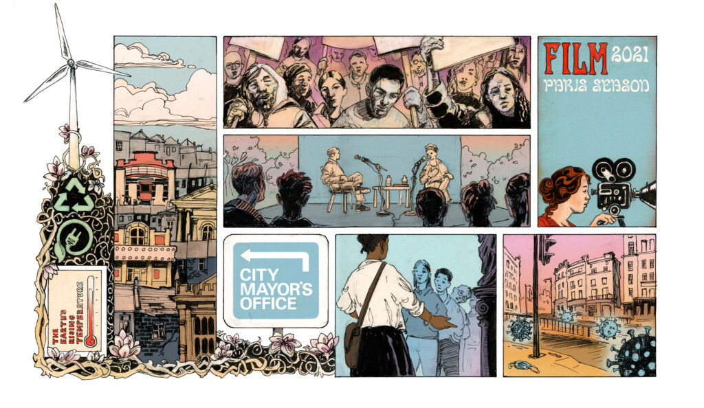 Illustration of some of the Festival of the Future City themes