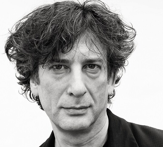 Neil Gaiman wearing black jacket
