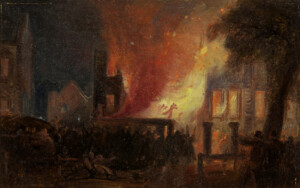 William James Müller's Bristol Riots: The Burning of Queen Square: the Custom House